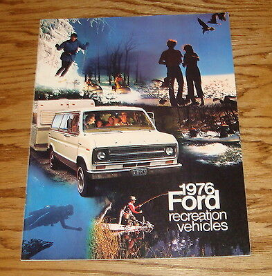 Original 1976 Ford Recreation Vehicles Sales Brochure 76 Mustang Bronco Pickup