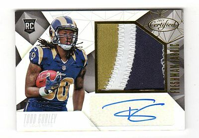 Todd Gurley Nfl 2015 Certified Jersey Auto Rookie Card (Rams) # 080 / 199