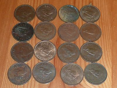 British - 16 X Farthing Coins - 1937 To 1951 - George Vi - 16 Great Coins