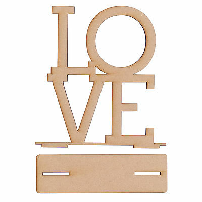 Creative Expressions Dimensional Art Decoupage MDF - Freestanding Love