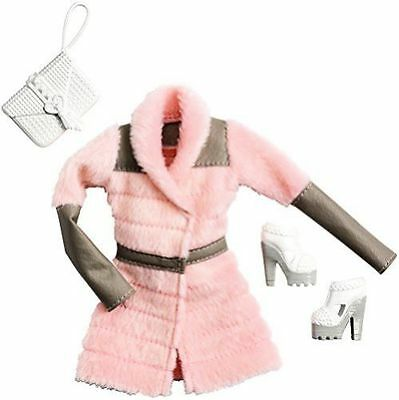 Barbie Doll Fashionistas Clothing Pack Fashion Outfit Pink Fur Coat