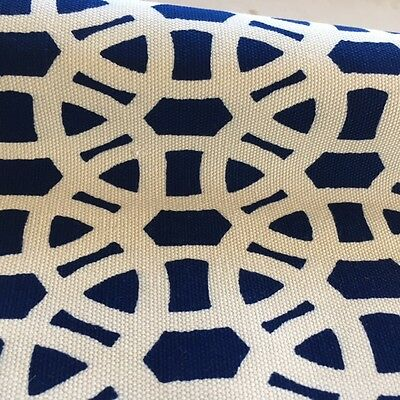 Scion Lace Navy Blue Upholstery Fabric