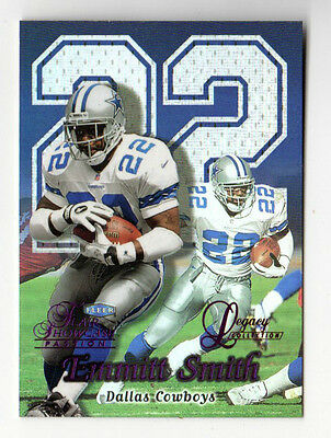 Emmitt Smith Nfl 1999 Flair Showcase Legacy Collection Masterpieces  Rare 1 Of 1