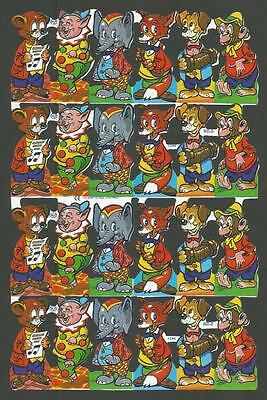 Mlp 1244 - Anthropomorphic Animals Scraps - Mamelok Press Discontinued Sheet