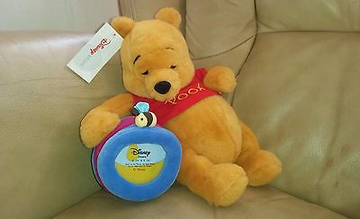 Official Disney Store New with tags Winnie the Pooh with photo frame Soft Toy