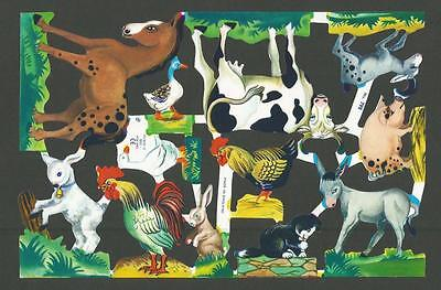 Mlp 798 - Farm Animals - Scraps Oblaten - Mamelok Press Discontinued Sheet