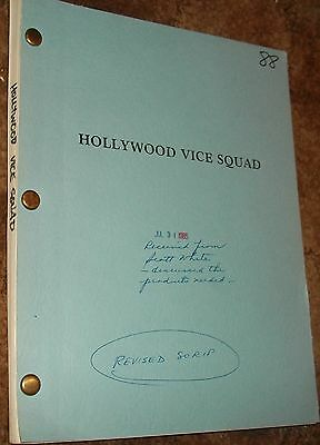Hollywood Vice Squad ORIGINAL 1985 VINTAGE FILM SCRIPT Carrie Fisher Ronny Cox