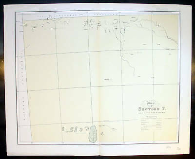 1886 John Sands Map of NW South Australia, Lake Maurice
