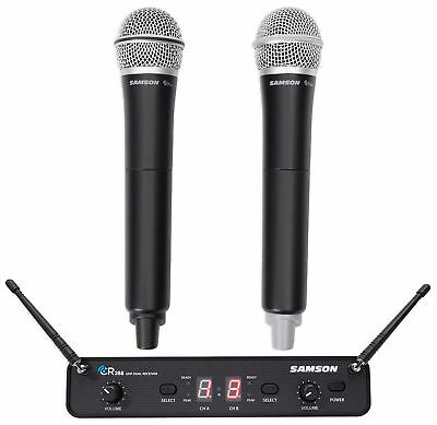 Samson Concert 288 Handheld Dual Channel Wireless Microphone System w/ 2 Mics