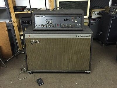 1964 Gibson Mercury I Vintage Tube guitar amp head & 2x12 Jensen loaded cabinet