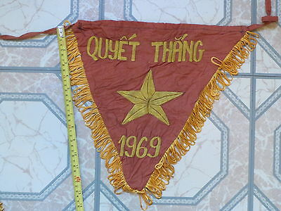 Flag  ,  do the best to win,  QUYET THANG  1969 , VIETNAM WAR , CARFLAG