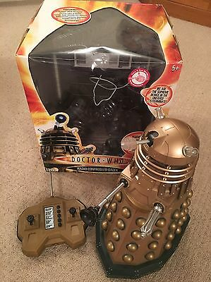 """Dr Who Radio Remote Control Large 12"""" Gold Dalek Boxed"""