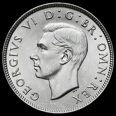 1942 George VI Silver Two Shilling Coin / Florin – BU