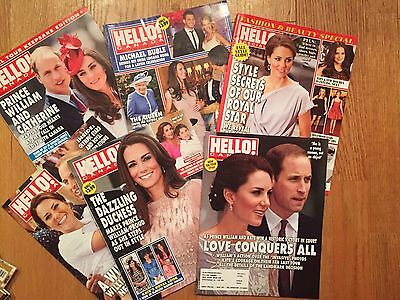 KATE MIDDLETON - DUCHESS CAMBRIDGE & others - Lot of 6 HELLO! CANADA MAGAZINES