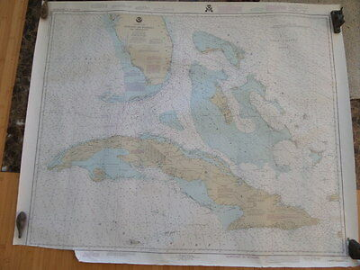 NOAA Nautical Chart of Straits of Florida and Approaches with Cuba