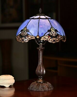 """Baroque Accent"" Style Real Stained Glass HANDCRAFTED TIFFANY LAMP/Part"