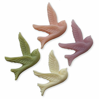 Pastel Swallow Birds Resin Flatback Cabochons Embellishments Charms Dove Swift