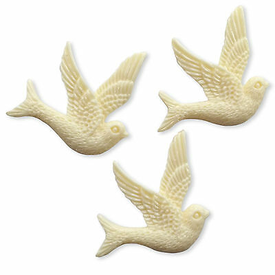 Large Swallow Birds Resin Flatback Cabochons Embellishments Charms Dove Swift
