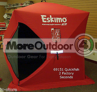69151 Eskimo Pop Up Portable QuickFish 2 Ice Shelter 2 Man SALES MODELS