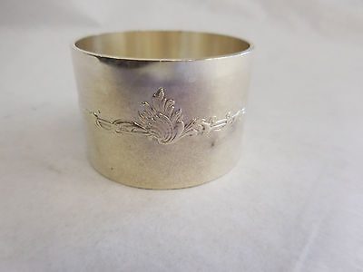 Christofle Silverplated Napkin Ring With Rococo Band No Monogram