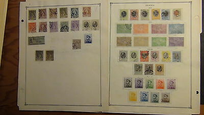 Serbia stamp collection on Scott International  pages to '40
