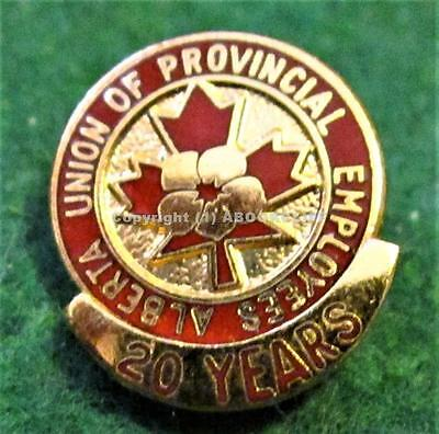 AUPE 20yr SERVICE ALBERTA UNION OF PUBLIC EMPLOYEES PROVINCIAL Lapel Pin