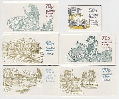 GREAT BRITAIN VARIOUS 1978 MINT UNUSED BOOKLETS x 6 (JD0035)