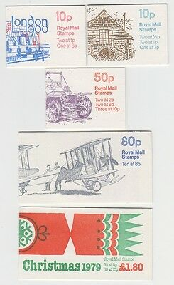 GREAT BRITAIN VARIOUS 1979 MINT UNUSED BOOKLETS x 6 (JD0036)