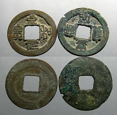 2 NORTHERN SONG DYNASTY AE'S_____960-1127 AD___Golden Age of China____HOARD FIND