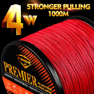 100M PE Dyneema Fishing Line Strong Braided Lines 4 Strands Wire 8LB-100LB New