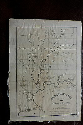 Antique -Melish-1818 Map English Prairie - Birkbecks Settlement..in , Il , Ky..