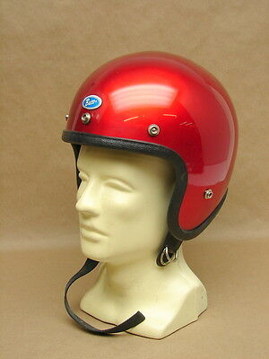 Vintage NOS 1976 Buco Open Face Red Motorcycle Scooter Helmet Small 6 7/8-7 1/8