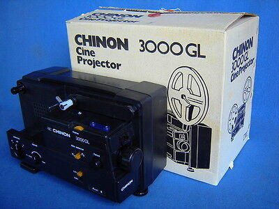 Chinon 3000 Gl Variable Speed Dual 8Mm Movie Projector-Unused In Box