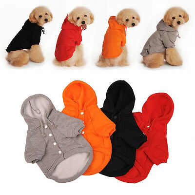Pet Dog Hoodie Puppy Winter Warm Clothes Sweater Costume Jacket Coat Apparel NE