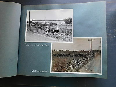 VINTAGE - PHOTOGRAPH ALBUM of the 1949 Flood at KEMPSEY NSW