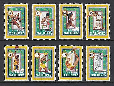MALDIVE  ISLANDS 1992 OLYMPIC GAMES set of 8, Mint Never Hinged