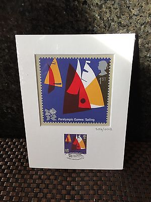 London 2012 Paralympic - Sailing Stamp & Print Set, Ltd Edition, Summer Olympics
