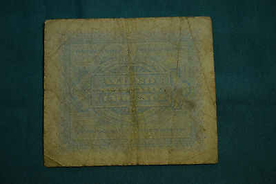 An Allied Military Currency 10 Lire Note of 1943 issued in Italy - VERY ROUGH