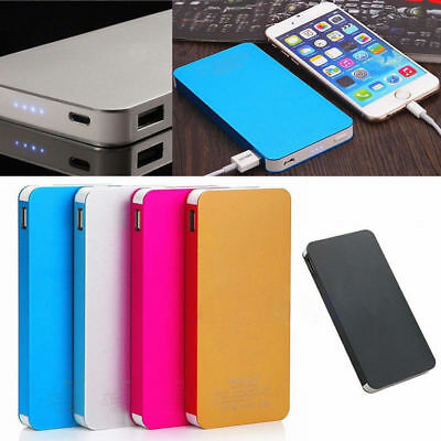 Ultrathin Metal 50000mAh External Power Bank 2 USB Portable Pack Battery Charger