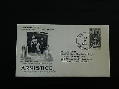Canada Stamp SG 629 on illustrated FDI Fiftieth Anniversary of the Armistice WWI