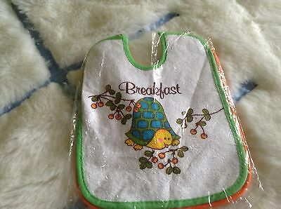 AUTHENTIC VINTAGE 1970s UNUSED BABY BIBS BOYS GIRLS INFANTS CHILDRENS  3 MONTHS