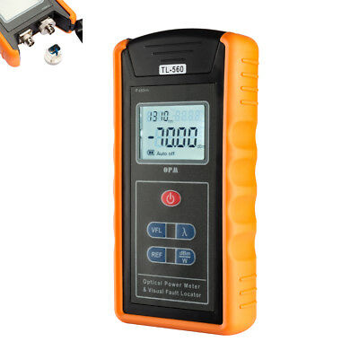 10km -70 ~ +10 dBm Portable Optical Power Meter Visual Fault Locator Fiber TL560