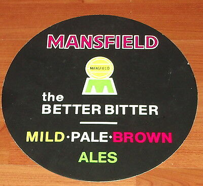Mansfield Brewery Card Ad. Showcard..mild..pale..brown..ales.