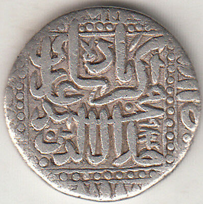 India Mughal Coin Jala-Ud-Din Akbar Mint { Ahmedabad} 984 Silver Coin Rev.kalima
