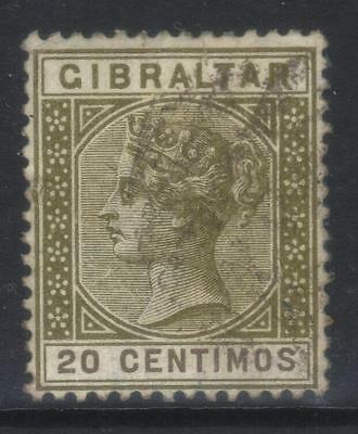 Gibraltar 1889-1896 Crown Ca Sg24 Used Cat £24