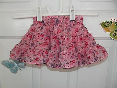 Baby Girl Pink With Floral Pattern Skirt In Size 3-6 Months