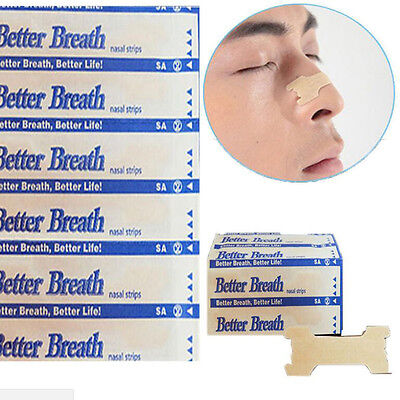 10/100Pcs Tan Better Breath Nasal Strips Sm/med Or Large Right Way To Stop Snore