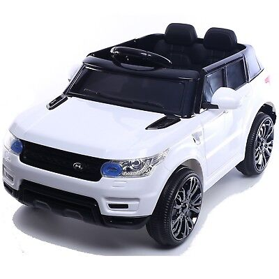 Compact HSE Range Rover Style Electric 12v Child's Ride on Jeep - White