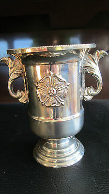 """Vintage Heavy Silver Plated Urn 4"""" Tall"""