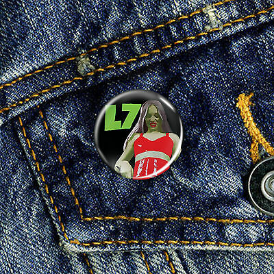 L7 90s Indie Grunge Riot Grrrl Pin Button Badge 1 x 25mm Badge